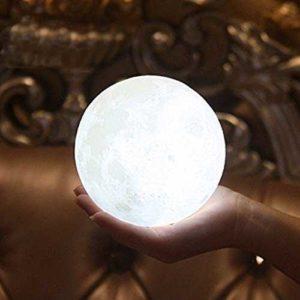 Mondlampe weiß