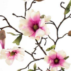Deko Magnolienzweig Details Blüte