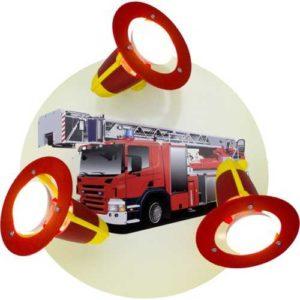 Kinderzimmerlampe Feuerwehrauto