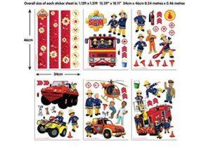 Wandtattoo Feuerwehrmann Sam Set Details