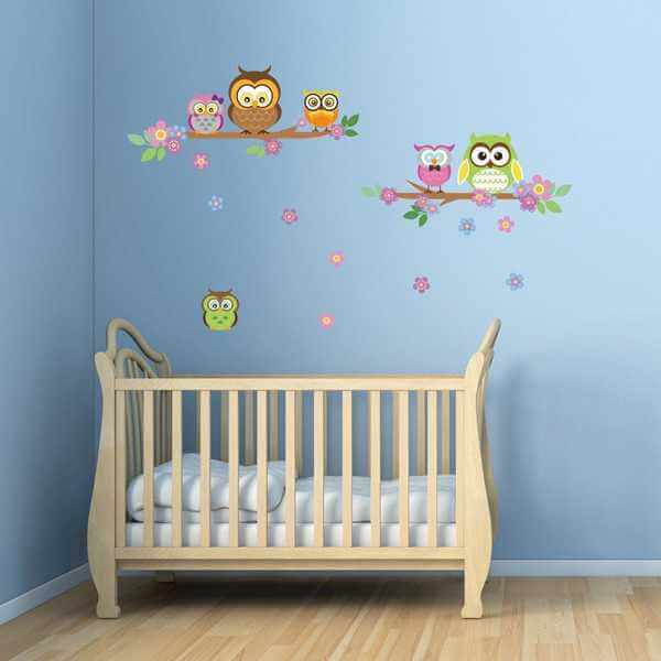 Baby Wandtattoo Eulen Kinderzimmer – Dekodealz ...