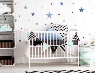 Baby Wandtattoo Sternenhimmel