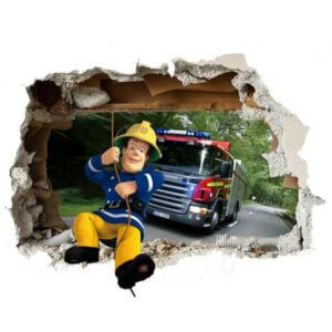Feuerwehrmann Sam 3D Wandtattoo