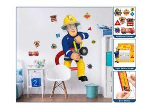Feuerwehrmann Sam Wandtattoo lebensgroß Details
