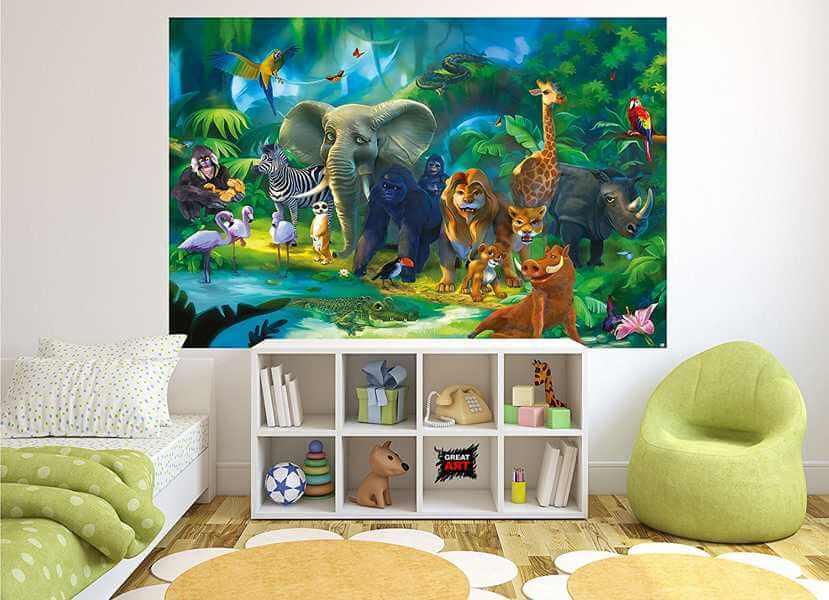 Kindertapete Safari im Dschungel